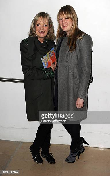 Twiggy and her daughter Carly Lawson attend the Matthew Williamson show during London Fashion Week Autumn/Winter 2012 at The Royal Opera House on...