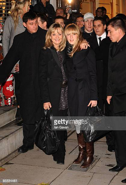 Twiggy and her daughter Carly Lawson attend the switching on of Stella McCartney's London store Christmas Lights on November 23 2009 in London England