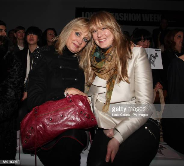 Twiggy and her daughter Carly Lawson in the front row at the Bora Aksu Autumn/Winter 2011 show at London Fashion Week