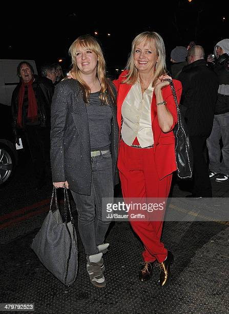 Twiggy and she's daughter Carly Lawson are seen attend the Viva Forever after party on December 12 2012 in London United Kingdom
