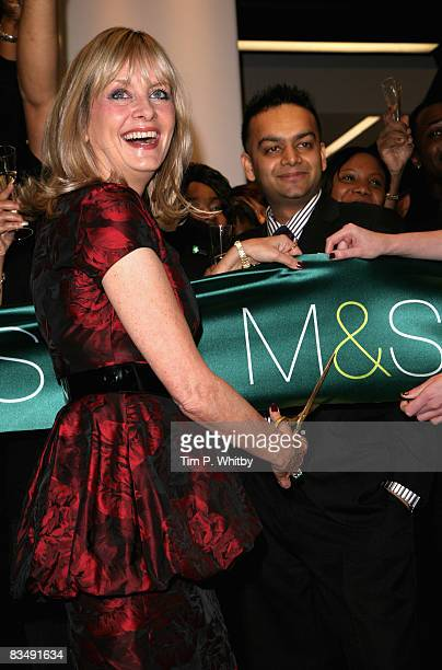 Twiggy cuts the ribbon at the official opening of Marks and Spencers in Westfield Shopping Mall which opened to the public on October 30 2008 in...