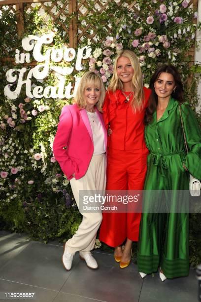 Twiggy Gwyneth Paltrow and Penelope Cruz at In goop Health London 2019 on June 29 2019 in London England