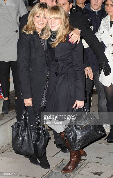 Twiggy Lawson and daughter Carly Lawson arrive for the turning on of the Christmas Lights at the Stella McCartney store on November 23 2009 in London...