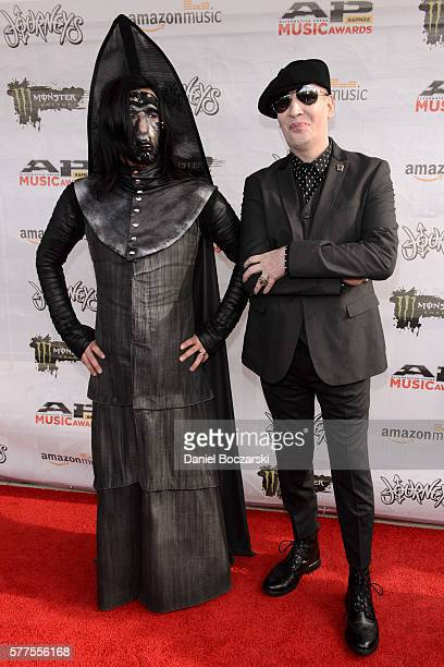 Twiggy Ramirez and Marilyn Manson attend the Alternative Press Music Awards 2016 at Jerome Schottenstein Center on July 18 2016 in Columbus Ohio