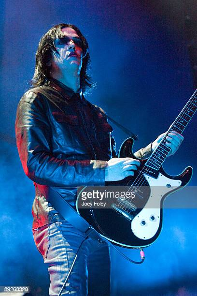 Twiggy Ramirez of Marilyn Manson performs in concert at the Rockstar Energy Drink Mayhem Festival at Verizon Wireless Music Center on July 25 2009 in...