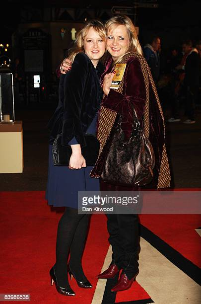Twiggy with her daughter Carly Lawson arrive for the UK Film Premiere of 'Australia' at the Odeon Leicester Square on December 10 2008 in London...