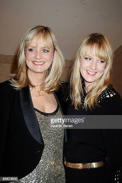 Twiggy with her daughter Carly Lawson attend the cocktail reception during the British Fashion Awards at Lawrence Hall on November 25 2008 in London...