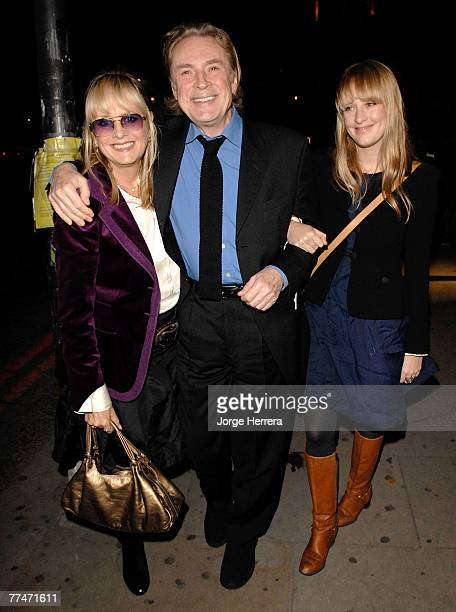 Twiggy with husband Leigh Lawson and daughter Vivie Warren arrive at the Lisa Hoffman Bath And Shower Range Launch Party at Harvey Nichols on October...