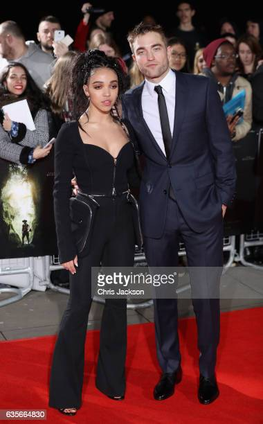 Twigs and Robert Pattinson arrive at 'The Lost City of Z' UK premiere at the British Museum on February 16 2017 in London United Kingdom