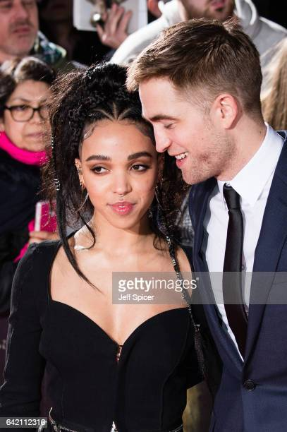 FKA Twigs and Robert Pattinson arrive at The Lost City of Z UK premiere at The British Museum on February 16 2017 in London United Kingdom