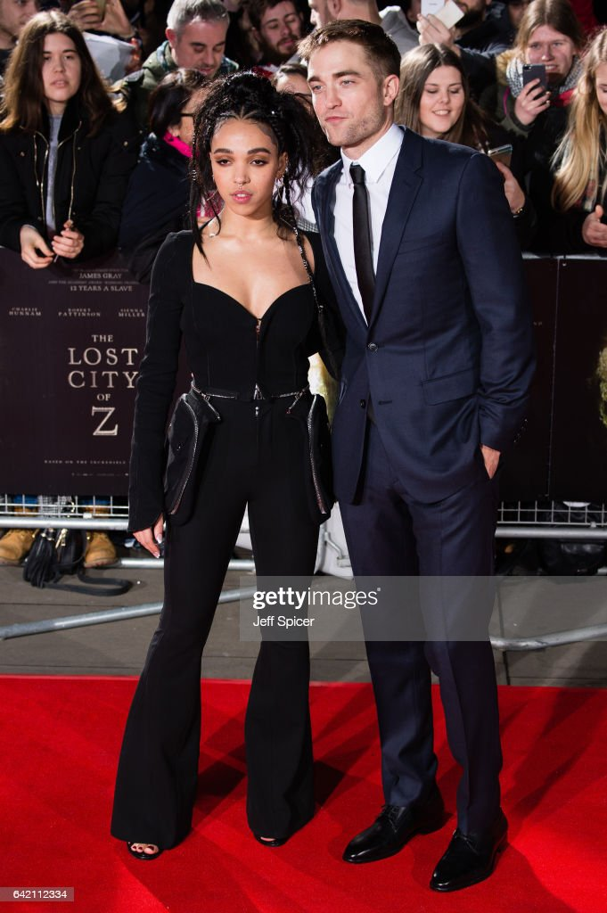 FKA Twigs and Robert Pattinson arrive at The Lost City of Z UK premiere at The British Museum on February 16, 2017 in London, United Kingdom.