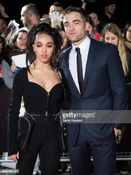Twigs and Robert Pattinson arrive at The Lost City of Z UK premiere on February 16 2017 in London United Kingdom
