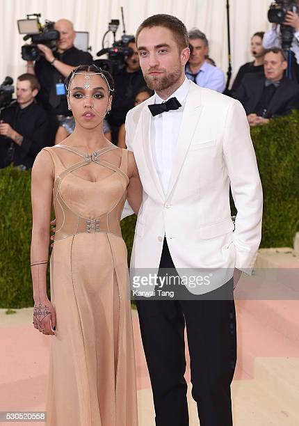 Twigs and Robert Pattinson arrive for the Manus x Machina Fashion In An Age Of Technology Costume Institute Gala at Metropolitan Museum of Art on May...