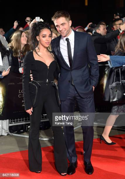 Twigs and Robert Pattinson arrive for the UK premiere of The Lost City of Z at the British Museum on February 16 2017 in London United Kingdom