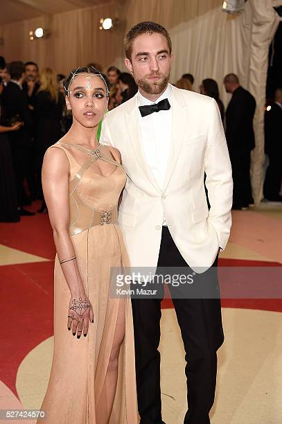 """Twigs and Robert Pattinson attend """"Manus x Machina: Fashion In An Age Of Technology"""" Costume Institute Gala at Metropolitan Museum of Art on May 2,..."""