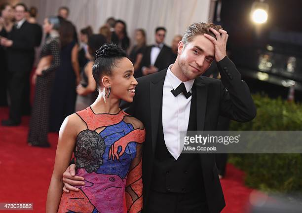 Twigs and Robert Pattinson attend the China Through The Looking Glass Costume Institute Benefit Gala at the Metropolitan Museum of Art on May 4 2015...