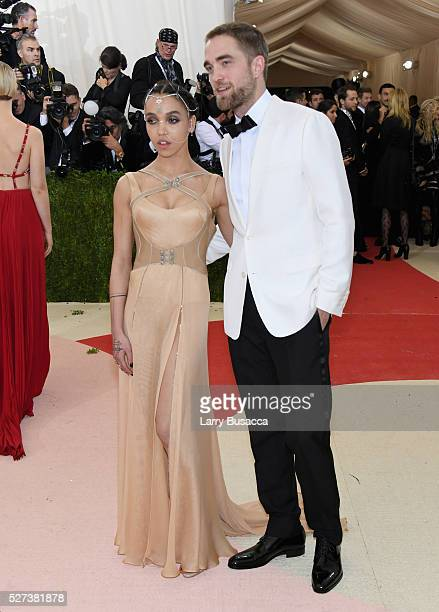 Twigs and Robert Pattinson attend the 'Manus x Machina Fashion In An Age Of Technology' Costume Institute Gala at Metropolitan Museum of Art on May 2...