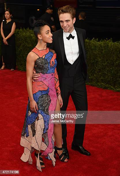 """Twigs and Robert Pattinson attends the """"China: Through The Looking Glass"""" Costume Institute Benefit Gala at the Metropolitan Museum of Art on May 4,..."""