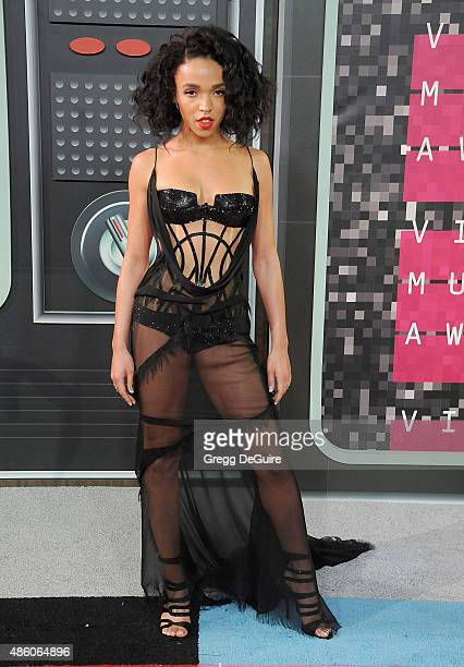 Twigs arrives at the 2015 MTV Video Music Awards at Microsoft Theater on August 30 2015 in Los Angeles California