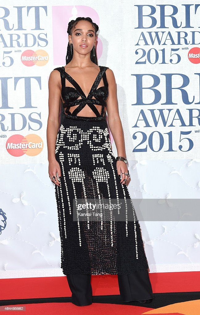 Twigs attends the BRIT Awards 2015 at The O2 Arena on February 25, 2015 in London, England.