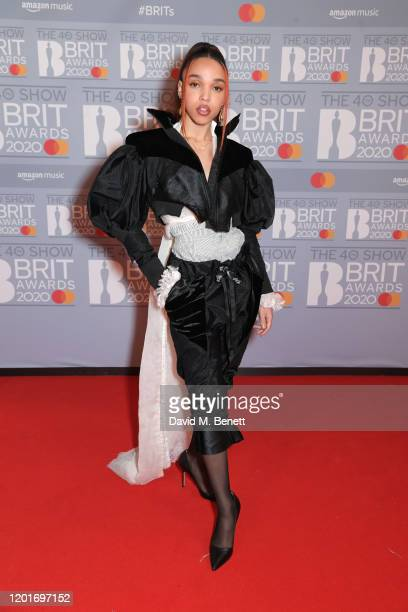 Twigs attends The BRIT Awards 2020 at The O2 Arena on February 18, 2020 in London, England.