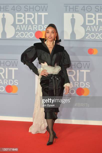 FKA Twigs attends The BRIT Awards 2020 at The O2 Arena on February 18 2020 in London England