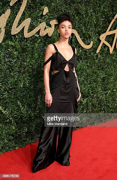 Twigs attends the British Fashion Awards 2015 at London Coliseum on November 23, 2015 in London, England.