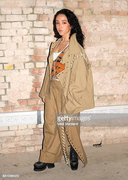 FKA twigs attends the Craig Green show during London Fashion Week Men's January 2017 collections at on January 6 2017 in London England