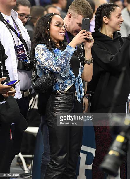 Twigs attends the Denver Nuggets v Indiana Pacers match as part of the NBA Global Games London 2017 at The O2 Arena on January 12 2017 in London...