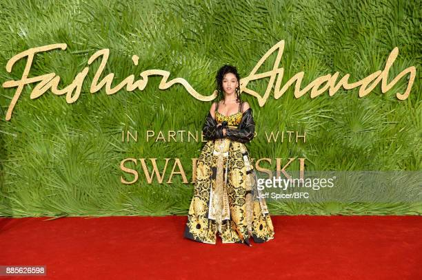 Twigs attends The Fashion Awards 2017 in partnership with Swarovski at Royal Albert Hall on December 4 2017 in London England
