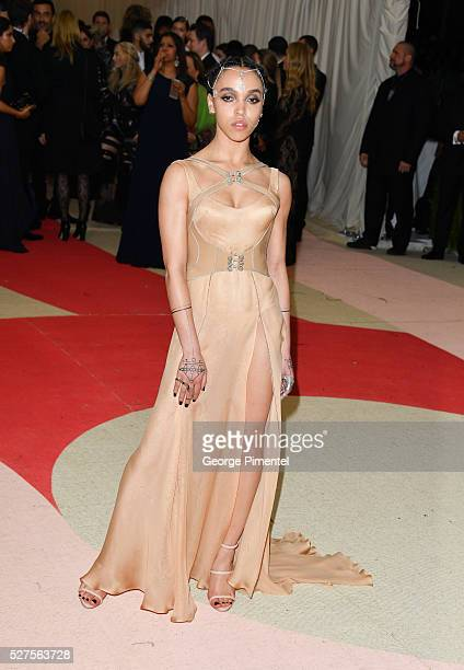 Twigs attends the 'Manus x Machina Fashion in an Age of Technology' Costume Institute Gala at the Metropolitan Museum of Art on May 2 2016 in New...