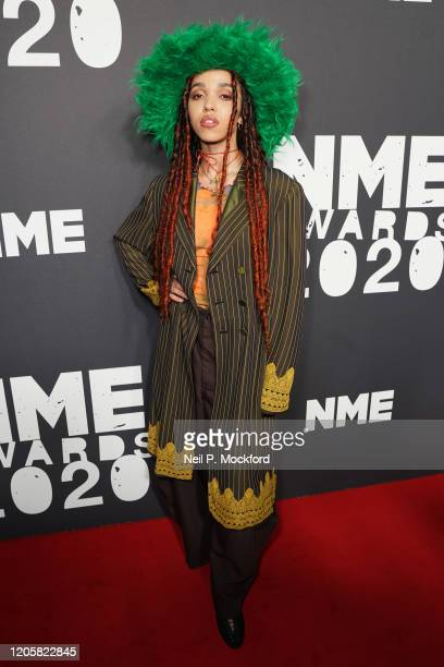 FKA twigs attends the NME Awards 2020 at O2 Academy Brixton on February 12 2020 in London England