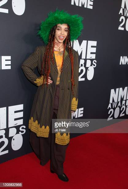 Twigs attends the NME Awards 2020 at O2 Academy Brixton on February 12, 2020 in London, England.