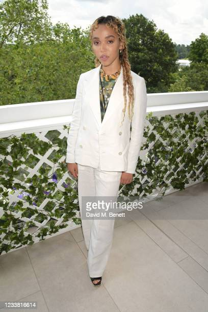 Twigs attends the Polo Ralph Lauren & British Vogue day during Wimbledon at All England Lawn Tennis and Croquet Club on July 5, 2021 in London,...