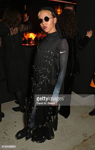FKA twigs attends The Veuve Clicquot Widow Series 'ROOMS' Curated by FKA twigs on October 26 2016 in London England