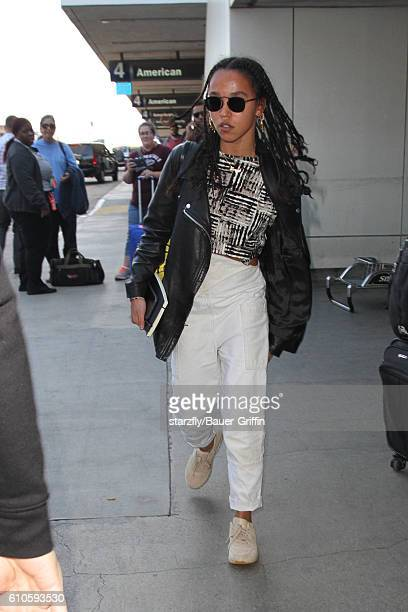 Twigs is seen at LAX on September 26 2016 in Los Angeles California