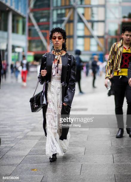 Twigs outside Christopher Kane during London Fashion Week September 2017 on September 18 2017 in London England