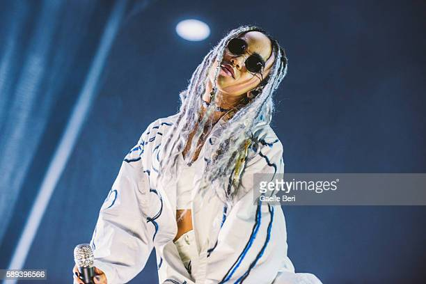 Twigs performs live at Flow Festival on August 13 2016 in Helsinki Finland