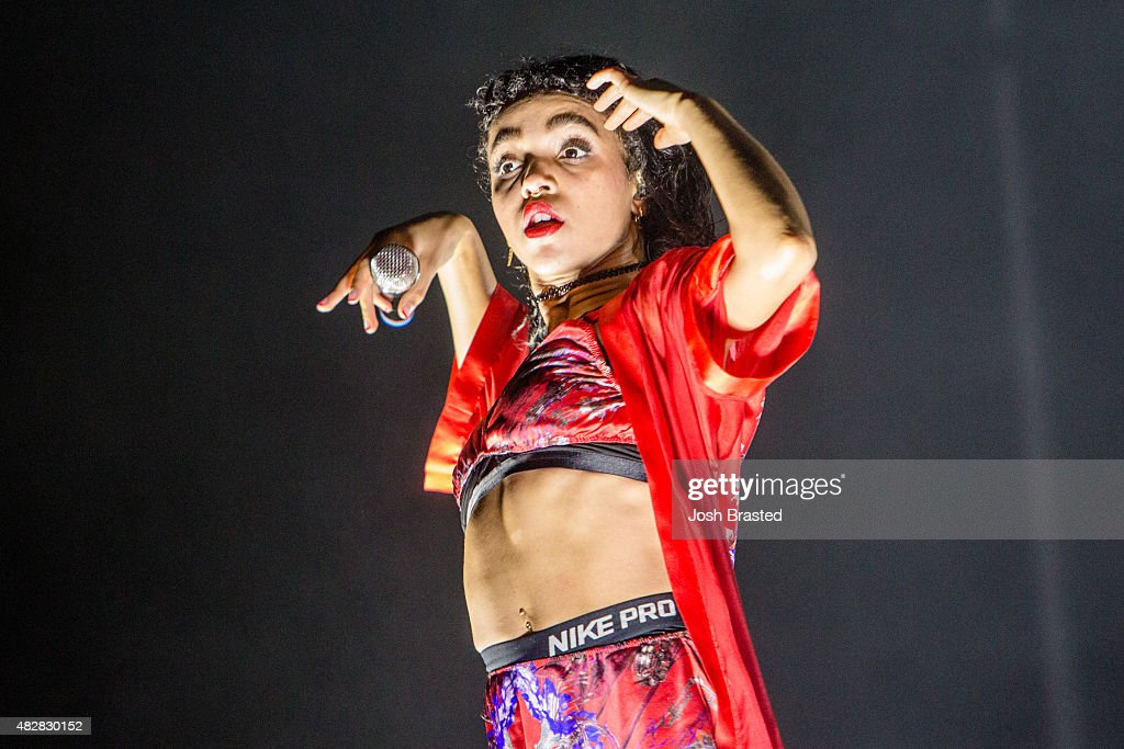 Twigs performs on stage at the Lollapalooza music festival at Grant Park on August 2, 2015 in Chicago, Illinois.