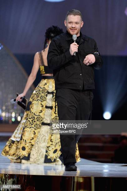 Twigs presents Craig Green with the British Designer of the Year Menswear award on stage during The Fashion Awards 2017 in partnership with Swarovski...