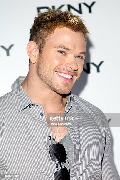 Twilight actor Kellan Lutz attends the DKNY Sunglass Soiree at The Beach at Dream Downtown on July 26 2011 in New York City