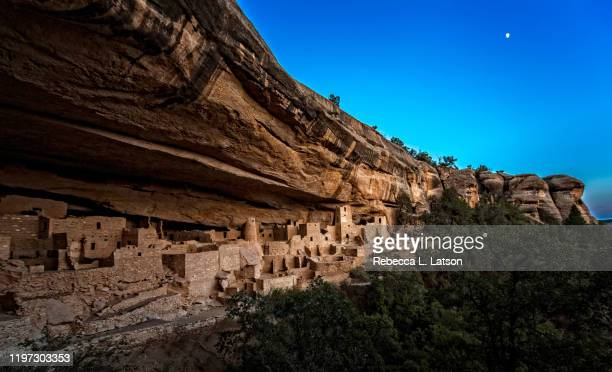 twilight at cliff palace - mesa verde national park stock pictures, royalty-free photos & images