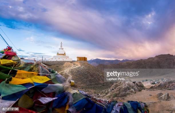 Twilight at Shanti Stupa in Ladakh