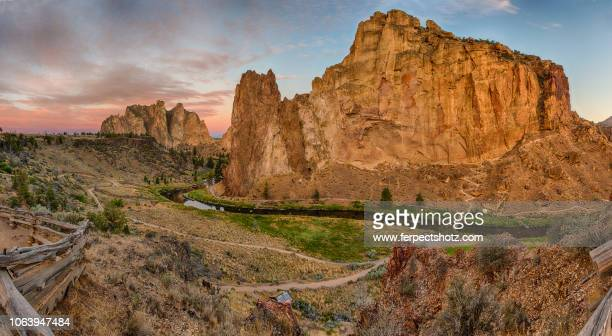 twilight at smith rock 07 - smith rock state park stock pictures, royalty-free photos & images