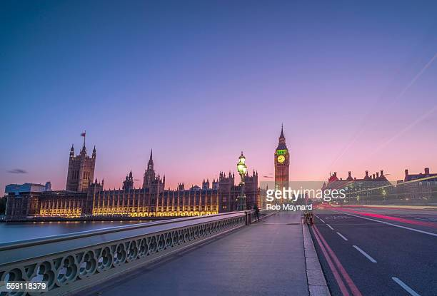 twilight big ben - westminster bridge stock pictures, royalty-free photos & images