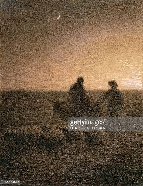 Twilight by JeanFrancois Millet Boston Museum Of Fine Arts