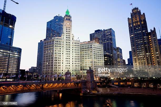 Twilight Chicago Cityscape