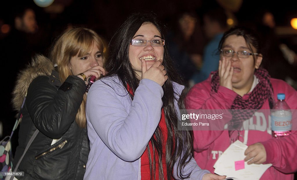 Twilight fans attend 'Breaking Dawn: Part 2' ('Amanecer: Parte 2') red carpet at Kinepolis cinema on November 15, 2012 in Madrid, Spain.