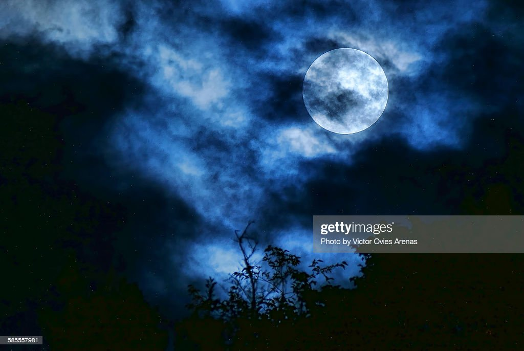 Twilight full moon : Foto de stock