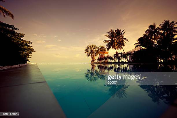 twilight in paradise - ko samui stock photos and pictures
